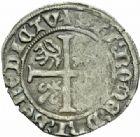 Photo numismatique  MONNAIES BARONNIALES Duché de BOURGOGNE JEAN SANS PEUR (1404-1419) Grand blanc ou guénar au croissant, Cuisery (?)
