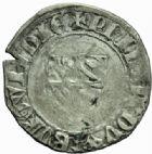 Photo numismatique  MONNAIES BARONNIALES Duché de BOURGOGNE PHILIPPE LE HARDI (1342-1404) Grand blanc ou guénar, 2ème type.