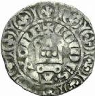 Photo numismatique  MONNAIES BARONNIALES Duché de BOURGOGNE EUDES IV (1315-1349)  Maille demie, Auxonne.