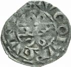Photo numismatique  MONNAIES BARONNIALES Duché de BOURGOGNE HUGUES IV (1218-1272) Denier, Dijon.