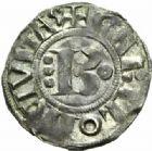 Photo numismatique  MONNAIES BARONNIALES Duché de BOURGOGNE HUGUES II (1102-1143) Denier, Chalon.
