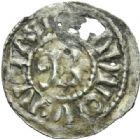 Photo numismatique  MONNAIES BARONNIALES Duché de BOURGOGNE - monnayage comtal Comté de CHALON au nom du roi PHILIPPE Ier (1060-1108)  Denier, Chalon, 2ème type.