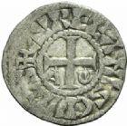 Photo numismatique  MONNAIES BARONNIALES Vicomté d'ORLEANS ISEMBARD évêque (1033-1063) Obole anonyme.