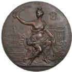 Photo numismatique  MEDAILLES MÉDAILLES MEDAILLES CONCERNANT BOURGOGNE ET FRANCHE-COMTE Médaille de J. Hainglaise Ville  de Mâcon, concours international de gymnastique 1898, épreuve.