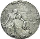 Photo numismatique  MEDAILLES MÉDAILLES MEDAILLES CONCERNANT BOURGOGNE ET FRANCHE-COMTE Médaille de H. Lefebvre Ets Schneider - Le submersible Armide, 1916.