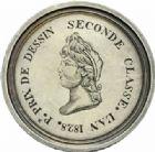 Photo numismatique  MEDAILLES MEDAILLES MEDAILLES CONCERNANT BOURGOGNE ET FRANCHE-COMTE Beaune (Côte-d'Or) Beaune (Côte-d'Or), premier prix de dessin, 2de classe, 1828.