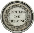 Photo numismatique  MEDAILLES MÉDAILLES MEDAILLES CONCERNANT BOURGOGNE ET FRANCHE-COMTE Beaune (Côte-d'Or) Beaune (Côte-d'Or), premier prix de dessin, 1ère classe, 1826.