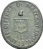 Photo numismatique  MEDAILLES MÉDAILLES MEDAILLES CONCERNANT BOURGOGNE ET FRANCHE-COMTE District de Marcigny (Saône-et-Loire) Médaille de fonction judiciaire.