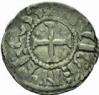 Photo numismatique  MONNAIES BARONNIALES Seigneurie de NOGENT-LE-ROI ROGER, Evêque de Beauvais (1014-1028) Denier.