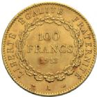 Photo numismatique  MONNAIES MODERNES FRANÇAISES 3e REPUBLIQUE (4 septembre 1870-10 juillet1940)  100 francs or, 1913.