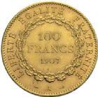 Photo numismatique  MONNAIES MODERNES FRANÇAISES 3ème REPUBLIQUE (4 septembre 1870-10 juillet 1940)  100 francs or, 1907.