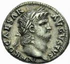 Photo numismatique  MONNAIES EMPIRE ROMAIN NERON (54-68)  Denier, Rome 64-66.