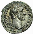 Photo numismatique  MONNAIES EMPIRE ROMAIN ANTONIN LE PIEUX (César 138 - Auguste 138-161)  Denier, Rome 149.