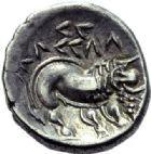 Photo numismatique  ARCHIVES VENTE 2015 -19 juin GAULE - CELTES GAULE CISALPINE (Vallée du Pô)  Drachme, imitation des monnaies de Marseille.