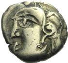Photo numismatique  ARCHIVES VENTE 2015 -19 juin GAULE - CELTES BITURIGES et LEMOVICES (Régions de Bourges et Limoges)  Quart de statère au triskèle.