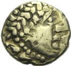 Photo numismatique  ARCHIVES VENTE 2015 -19 juin GAULE - CELTES CENTRE-EST et EST DE LA GAULE  Quart de statère d'or.