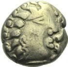Photo numismatique  ARCHIVES VENTE 2015 -19 juin GAULE - CELTES EDUENS (région de la Bourgogne et du Nivernais)  Quart de statère d'or.