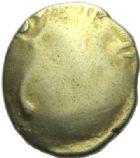 Photo numismatique  ARCHIVES VENTE 2015 -19 juin GAULE - CELTES CARNUTES (région de Chartres)  Quart de statère uniface.