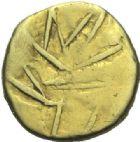 Photo numismatique  ARCHIVES VENTE 2015 -19 juin GAULE - CELTES CALETI (Pays de Caux)  Quart de statère d'or aux lignes entremêlées.(2ème siècle avant J.C.).