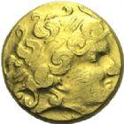 Photo numismatique  ARCHIVES VENTE 2015 -19 juin GAULE - CELTES NORMANDIE.   Hémistatère, deux glaives.