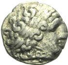 Photo numismatique  ARCHIVES VENTE 2015 -19 juin GAULE - CELTES NORMANDIE.   Quart de statère, bateau-glaive.