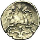Photo numismatique  ARCHIVES VENTE 2015 -19 juin GAULE - CELTES NAMNETES-ANDECAVES (Région de Nantes-Angers)  Statère à l'hippophore.
