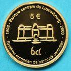 Photo numismatique  MONNAIES MONNAIES DU MONDE LUXEMBOURG HENRI Grand duc (depuis 2000) Pièce commémorative de 5 euros 2003 en or.