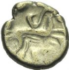 Photo numismatique  ARCHIVES VENTE 2015 -19 juin GAULE - CELTES AULERQUES CENOMANI-CARNUTES  Quart de statère.