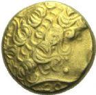 Photo numismatique  ARCHIVES VENTE 2015 -19 juin GAULE - CELTES AULERQUES EBUROVICES (région d'Evreux)  Quart de statère.
