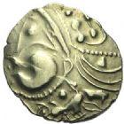 Photo numismatique  ARCHIVES VENTE 2015 -19 juin GAULE - CELTES AULERQUES EBUROVICES (région d'Evreux)  Hémistatère au sanglier.