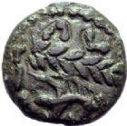 Photo numismatique  ARCHIVES VENTE 2015 -19 juin GAULE - CELTES AULERQUES EBUROVICES (région d'Evreux)  Bronze à la branche de laurier.