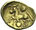 Photo numismatique  ARCHIVES VENTE 2015 -19 juin GAULE - CELTES BELLOVACI-AMBIANI (su-ouest Somme et vallée de l'Oise)  Statère d'or à l'astre.