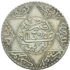 Photo numismatique  MONNAIES MONNAIES DU MONDE MAROC ABDUL AZIZ Ier (1894-1908) 5 dirhams ou demi rial de 1320.