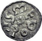 Photo numismatique  ARCHIVES VENTE 2015 -19 juin CAROLINGIENS CHARLEMAGNE, roi (768-800) empereur (800-814)  Denier, Melle, 1er type avant 794.