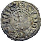 Photo numismatique  ARCHIVES VENTE 2015 -19 juin ROYALES FRANCAISES LOUIS VII (1er août 1137-18 septembre 1180)  Denier Bourges.