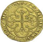 Photo numismatique  ARCHIVES VENTE 2015 -19 juin ROYALES FRANCAISES PHILIPPE VI DE VALOIS(1er avril 1328-22 août 1350)  Ecu d'or à la chaise de la 3ème émission (5 janvier 1348).