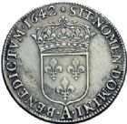 Photo numismatique  ARCHIVES VENTE 2015 -19 juin ROYALES FRANCAISES LOUIS XIII (16 mai 1610-14 mai 1643)  Demi-écu d'argent de 30 sols, 1er poinçon de Warin,  Paris 1642.