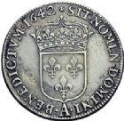Photo numismatique  ARCHIVES VENTE 2015 -19 juin ROYALES FRANCAISES LOUIS XIII (16 mai 1610-14 mai 1643)  Demi-écu d'argent de 30 sols, 1er poinçon de Warin,  Paris 1642.