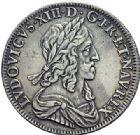 Photo numismatique  ARCHIVES VENTE 2015 -19 juin ROYALES FRANCAISES LOUIS XIII (16 mai 1610-14 mai 1643)  Demi-écu d'argent de 30 sols, 2ème poinçon de Warin, Paris 1643.