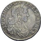 Photo numismatique  ARCHIVES VENTE 2015 -19 juin ROYALES FRANCAISES LOUIS XIV (14 mai 1643-1er septembre 1715)  Demi-écu au buste juvénile, Rouen 1662.