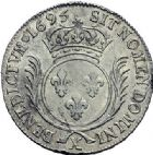 Photo numismatique  ARCHIVES VENTE 2015 -19 juin ROYALES FRANCAISES LOUIS XIV (14 mai 1643-1er septembre 1715)  Ecu aux palmes, Amiens 1695.