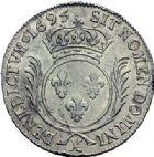 Photo numismatique  ARCHIVES VENTE 2015 -19 juin ROYALES FRANCAISES LOUIS XIV (14 mai 1643-1er septembre 1715)  Ecu aux palmes, Amiens 1695.