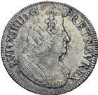 Photo numismatique  ARCHIVES VENTE 2015 -19 juin ROYALES FRANCAISES LOUIS XIV (14 mai 1643-1er septembre 1715)  Ecus aux palmes, Paris 1693, 1695; Rennes 1696.