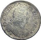 Photo numismatique  ARCHIVES VENTE 2015 -19 juin ROYALES FRANCAISES LOUIS XIV (14 mai 1643-1er septembre 1715)  Ecus aux insignes, Paris 1702 (2), Rennes.