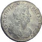 Photo numismatique  ARCHIVES VENTE 2015 -19 juin ROYALES FRANCAISES LOUIS XIV (14 mai 1643-1er septembre 1715)  Ecu aux insignes, Nantes 1702.