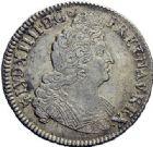 Photo numismatique  ARCHIVES VENTE 2015 -19 juin ROYALES FRANCAISES LOUIS XIV (14 mai 1643-1er septembre 1715)  Demi-écus aux insignes, Rennes 1701, 1702.