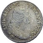 Photo numismatique  ARCHIVES VENTE 2015 -19 juin ROYALES FRANCAISES LOUIS XIV (14 mai 1643-1er septembre 1715)  Ecu aux 8 L du 2ème type, Rennes 1704.