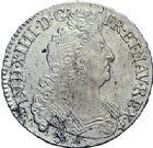 Photo numismatique  ARCHIVES VENTE 2015 -19 juin ROYALES FRANCAISES LOUIS XIV (14 mai 1643-1er septembre 1715)  1/2 écus aux 8 L du 2ème type, Rennes 1705, 1708 (2).
