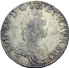 Photo numismatique  ARCHIVES VENTE 2015 -19 juin ROYALES FRANCAISES LOUIS XV (1er septembre 1715-10 mai 1774)  Ecu dit « vertugadin », Amiens 1716 - Demi-écu dit « vertugadin », Paris 1716.