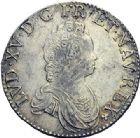 Photo numismatique  ARCHIVES VENTE 2015 -19 juin ROYALES FRANCAISES LOUIS XV (1er septembre 1715-10 mai 1774)  Ecu dit «vertugadin», Amiens 1716 - Demi-écu dit «vertugadin», Paris 1716.